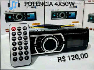 RÁDIO AUTOMOTIVO COM BLUETOOTH/USB/SD/AUX/FM /  Potência 4x50w