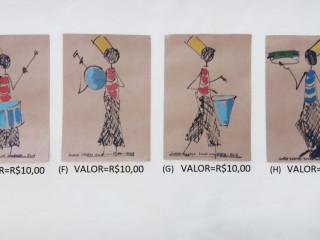 Pinturas Santos Silva no papel Kraft 200g na dimensão 16×24