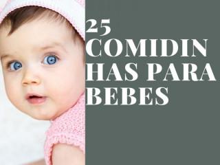 25 receitas de comidinhas para bebes
