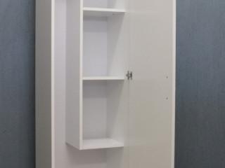 móvel armáriosob medida multiuso para lavanderia mdf branco 50x180x50