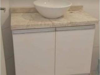 movel  balcao para banheiro/lavabo 60x60x40 c/pedra de granito s/cuba
