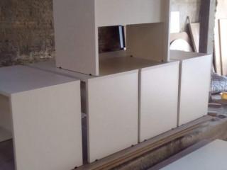 móvel mesa reta  escritório home Office  120x75x60 com gaveteiro