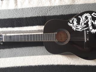 Violão Memphis preto com dragão