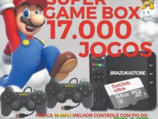 Super Game Retrô com 17.000 Jogos Clássicos - 64gb
