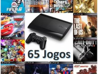 Ofertão: Playstation 3 (PS3) + 65 Jogos De Brinde
