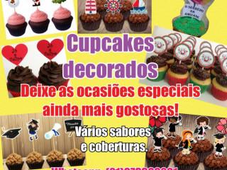 Cupcakes decorados, todos os temas.