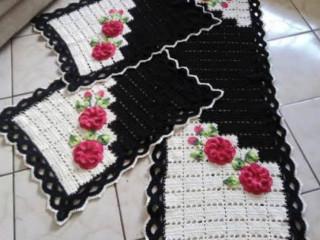 Passadeiras e tapetes de crochê