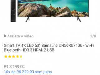 "Smart TV 4k led 50"" Samsung"