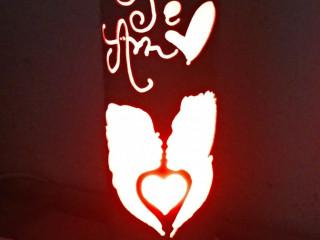 Luminária de Pvc Te amo
