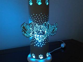 Luminária de Pvc Gatos