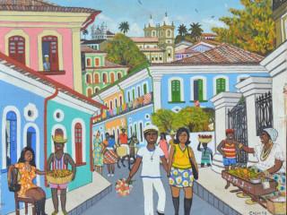 Calixto Sales , Bahia,Acrílico sobre tela,38x47 cm, sem moldura