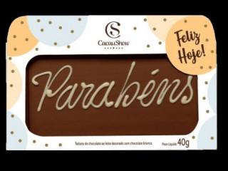 CHOCOARTE PARABÉNS 40G CACAU SHOW