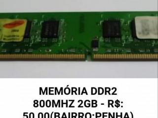MEMÓRIA DDR2 800MHZ 2GB - R$: 50,00