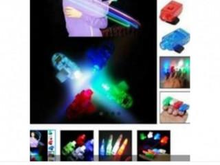 Kit c/ 4 Anéis Led de Dedo Laser Finger  R$ 25,00
