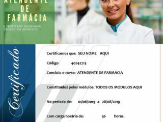 O Curso de Atendente de Farmácia