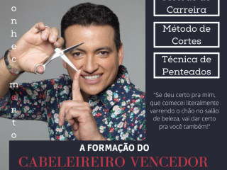 CURSO 100% ONLINE A FORMAÇÃO DO CABELEIREIRO VENCEDOR