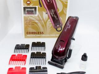 Máquina de cortar cabelo sem fio kemei  Hairclipper profissional