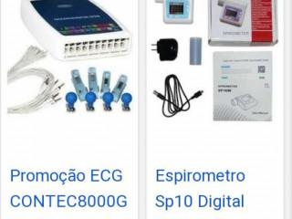 Eletrocardiograma e espirometria