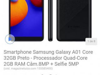 Smartphone Samsung Galaxy A01 Core 32GB Preto