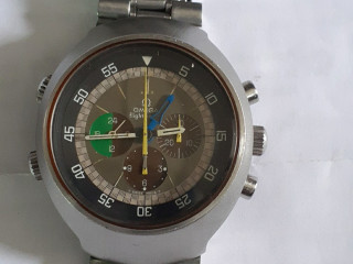 Relogio marca omega fhismaster aço  cronografo manual