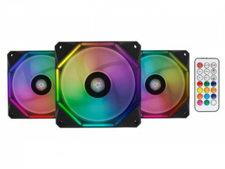 KIT Ventoinhas Pichau Gaming Wave RGB 3x120mm + Controladora