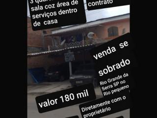 Vende se sobrado Rio Grande da Serra SP