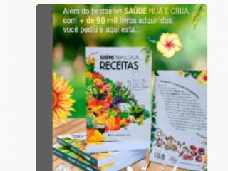 Kit com 2 livros saúde Nua e Crua + Livro de Receitas