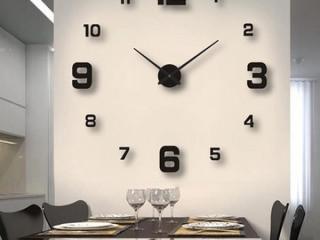 Relógio De Parede Grande Silenciosa Sem Moldura Espelho Adesivo 3d