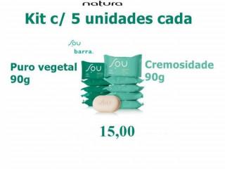 Sabonete em Barra Puro Vegetal Frescor SOU - 5und de 90g