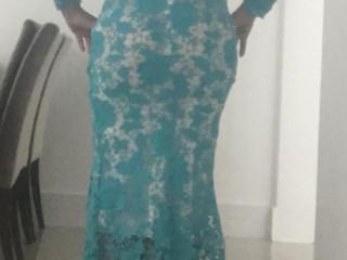 Vestido sereia todo de renda