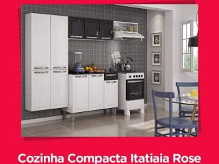 *Cozinha Compacta Itatiaia Rose - 7 Portas Aço*